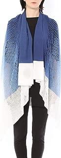 ミハイル ギニス アオヤマ MICHAIL GKINIS AOYAMA 着る ART ストール [登録意匠] 日本製 ハイテク ニット MADE IN TOKYO ギリシャ 大判 コットン Cotton Hand Print Color Gradation/BLUE ハンドプリント グラデーション ブルー