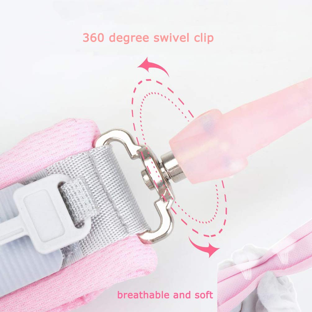 Anti Lost Wrist Link (8.2ft), Socub Toddler Leash Wrist for Kids Child Safety with Key Lock, 2 Pack, Pink and Blue