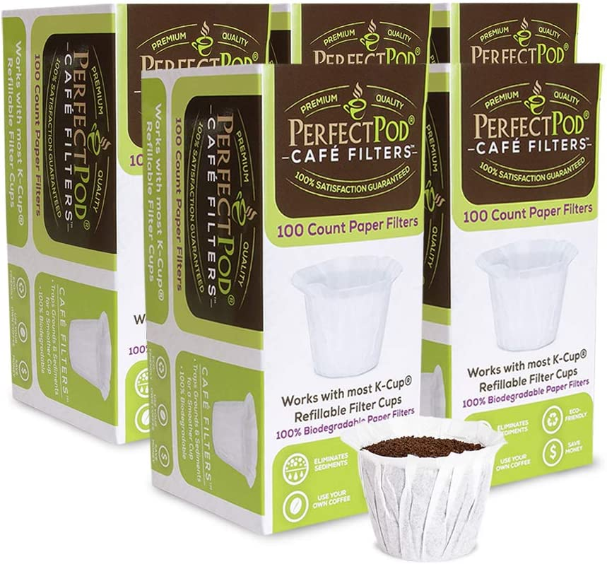 Nippon regular agency Cafe Filters Paper In a popularity Liners for Reusable K Perf by Cup Pods Coffee