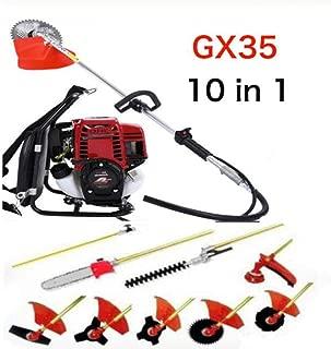 MEIDIANJU Gx35 Backpack 10 in 1 Multi Garden Brush Cutter Whipper Snipper Chain Saw Hedge Trimmer Extend Pole