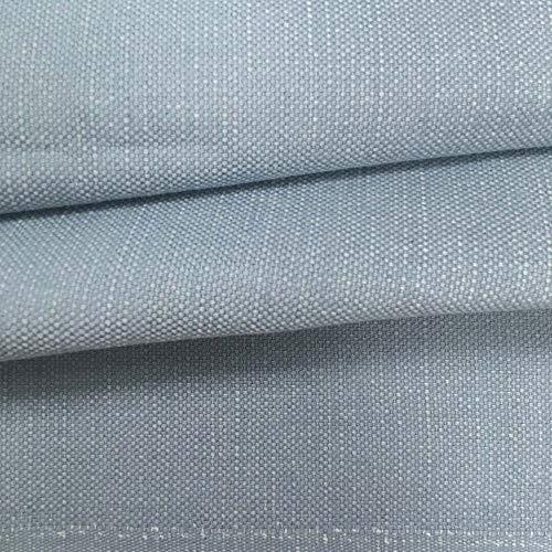 Tela de tapicería lisa - Panamá algodón - Acabado desgastado, envejecido - Retal de 100 cm largo x 140 cm alto | Azul grisáceo ─ 1 metro