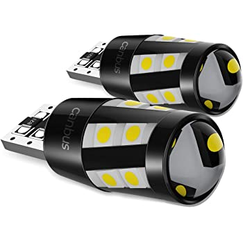 Luce Targa Auto Lampadine Tettuccio 555 501 558 2825 175 192 168 194 6000K Luce di Parcheggio Luci di Posizione T10 W5W LED Lampadine con Canbus 2 Pezzi