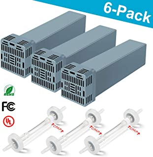 CPAP Filter Cartridge Replacement Filter Kit Compatible with Soclean 2 1200sc Cleaner and Sanitizer Machines, WiCare CPAP Supplies Includes 3 Filters and 3 Check Valves (6 Pack)