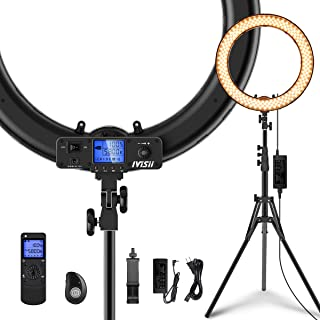 Ring Light,Upgraded Version 19inch with LCD Display Adjustable Color Temperature 3000K-5800K with Stand, YouTube Makeup Di...