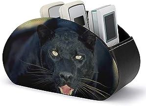 Caddy à distance en cuir - Boîte de rangement pour support de télécommande TV avec 5 compartiments - Organisation et stock...
