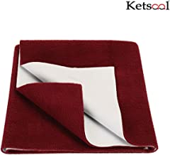 Ketsaal Waterproof and Reusable Mat/Bed Protector/Absorbent Dry Sheets (140cm X 100cm, Large) Maroon