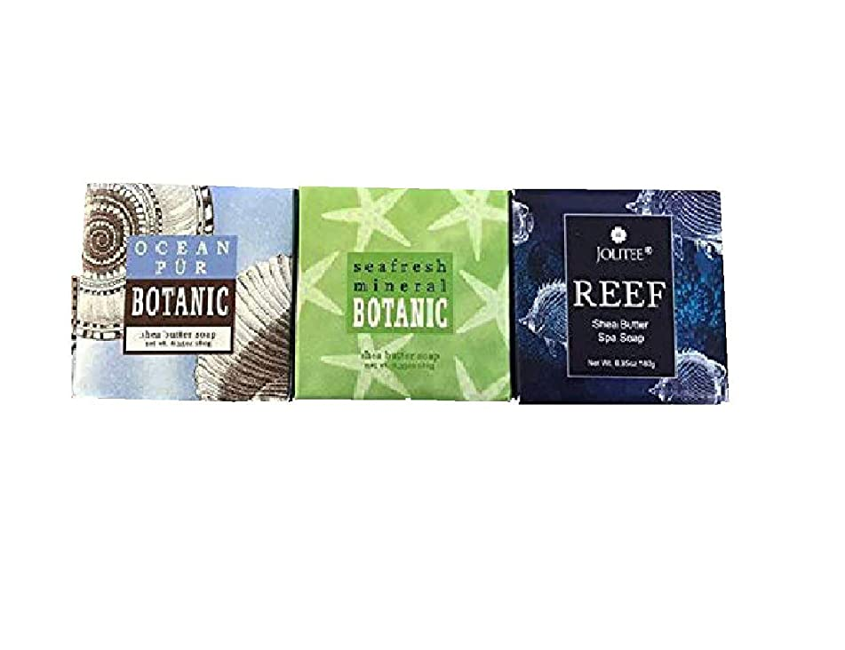 Greenwich Bay Cleansing Spa Soap, Shea Butter, and Cocoa Butter. Blended with Loofah and Apricot Seed, No Parabens, No Sulfates 6.35 Oz. (3 Pack) … (Sea Set)