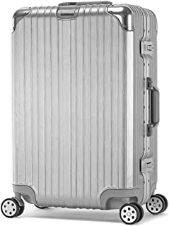 Suitcase Trolley Carry On Hand Cabin Luggage Hard Shell Travel Bag Lightweight Durable 360° Spinner Wheels,Silver,20inches
