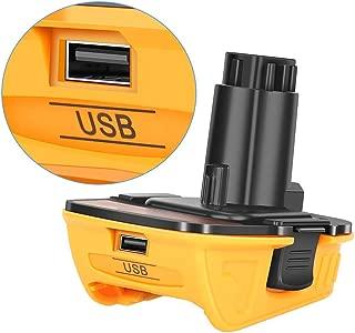 DCA1820 Battery Adapter for Dewalt 18V to 20V Tools Convert for Dewalt 18V NiCad & NiMh Battery Tools DC9096 DW9096 DC9098 DC9099 DW9099(USB Converter)