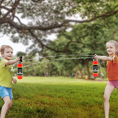 ArtCreativity Fire Extinguisher Squirter Toy - Pack of 2 - 9 Inch Water Extinguisher with Realistic Design - Fun Outdoor Summer Toy for Boys and Girls - Great Fireman Toy for Kids, Novelty Gag Gift