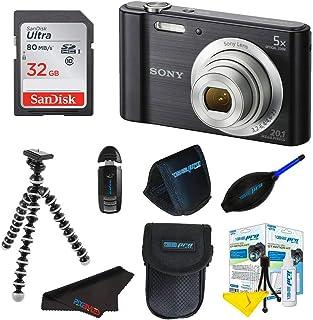 دوربین دیجیتال Sony Cyber-Shot DSC-W800 سونی (سیاه) + بسته 32 گیگابایتی لوازم جانبی پیکسلی Pixi-Basic I3ePro