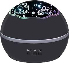 جهاز عرض للضوء الليلي للأولاد الصغار، سيارات و Undersea 2 فيلم في مصباح ليلي واحد، إضاءة متدلية وملونة لغرف الأطفال، هدية للأولاد والأطفال الصغار والكبار في غرفة النوم  Cars