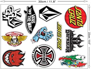 <h2>1 Set mit 11 Aufkleber Sticker Autocollant Skateboard Skater BMX Auto Motorrad Bike ATV Sponsor Rally Racing Motocross Logo Hot Rod Notebook Laptop Helm Driftking</h2>