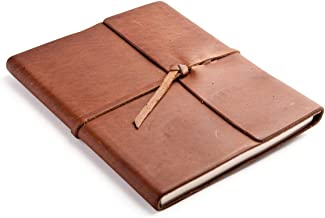 product image for Rustico Rustic Leather Writer's Book - A Leather Journal with Lined Pages - Saddle Brown