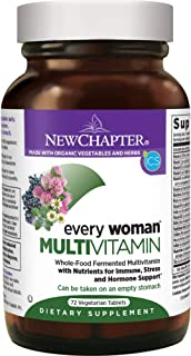 New Chapter Women's Multivitamin, Every Woman, Fermented with Probiotics + Iron + Vitamin D3 + B Vitamins + Organic Non-GMO Ingredients - 72 ct