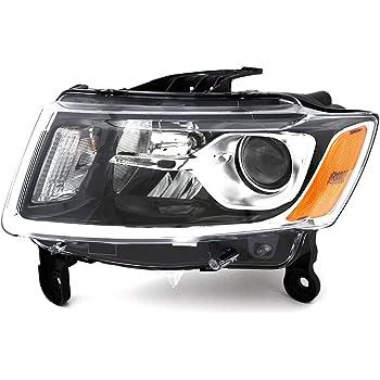 Amazon Com Koolzap Para 14 16 Grand Cherokee Faro Delantero Halogeno Faro Delantero Lampara De Cabeza De Luz De Lado Izquierdo Automotive