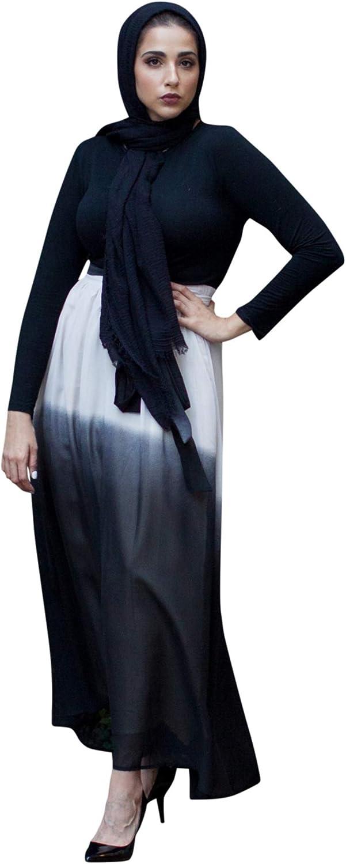 Verona Womens Elena Ombre Ruched Maxi Skirt