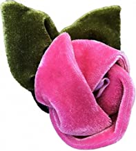 """product image for Diva-Dog 'Rosie Pink' Removable Velvet Dog/Cat Collar Flower for Buckle Collars ~ Two Sizes: Fits 3/8"""" – 5/8"""" or 5/8"""" or 5/8"""" – 1 ¼"""" Width Collars"""