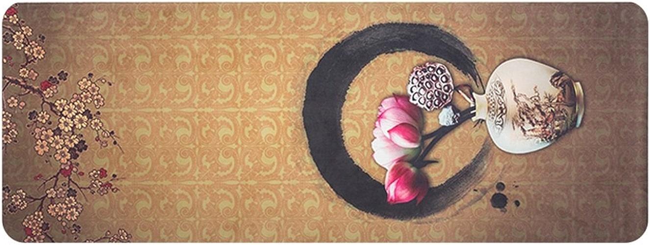 HCJYJD Tapis de Yoga en Caoutchouc Naturel Spécialité Tapis de Fitness Non-Slip Widen Fold Couverture de Yoga (Couleur    3, Taille   4mm)
