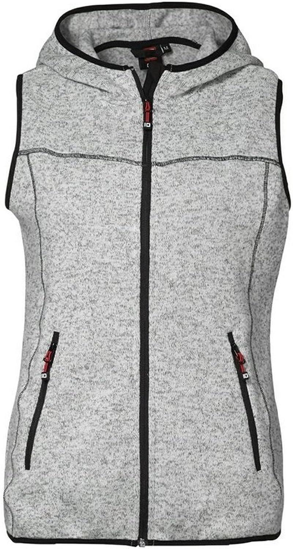 ID Womens Ladies Melange Knit Fleece Sleeveless Jacket Vest