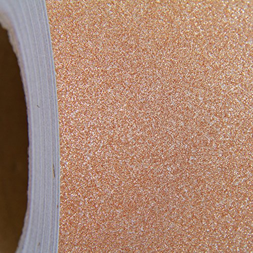 """12in x 9ft Roll Threadart Bronze Glitter Self Adhesive Vinyl 12"""" wide 
