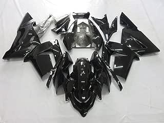 ZXMOTO Bodywork Fairing Kit for Kawasaki Ninja ZX 10R ZX1000C 2004 2005 Painted Gloss Black
