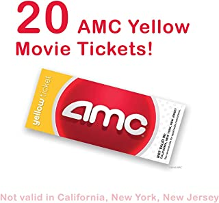 20 AMC Theatre Yellow Movie Tickets (SAVE $50!)