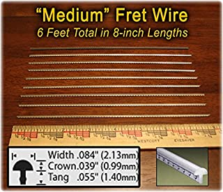 Guitar Fret Wire - Standard Medium/Medium Size, Nickel Silver - Six Feet