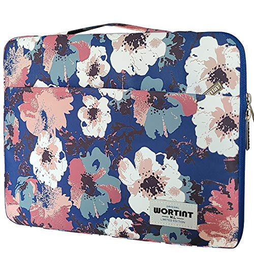 WORTINT Laptop Case Womens, Carrying Bag Sleeve, Laptop Cover with Handle for Girls, Protective Briefcase Bag, Waterproof Shockproof for All 13-15.6 Inch Laptops, Notebooks, Ultrabooks.