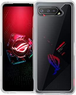 Foluu Case for ASUS ROG Phone 5 Case, ASUS ROG Phone 5 Frosted Case, Reinforced Frosted PC Hard Back Translucent Shock-Abs...