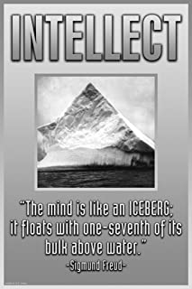 ArtParisienne Intellect The Mind is Like an Iceberg 12x18 Poster Semi-Gloss Heavy Stock Paper Print