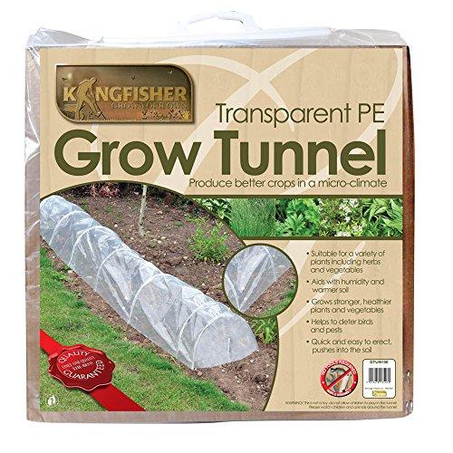 Kingfisher Tunnel agricole Transparent en polyéthylène