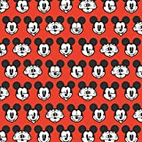 Disney Mickey Mouse rot - 100% Baumwolle - ab 0,5 Meter