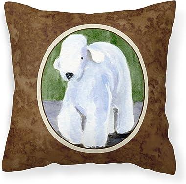 Caroline's Treasures SS8683PW1414 Bedlington Terrier Decorative Canvas Fabric Pillow, 14Hx14W, Multicolor