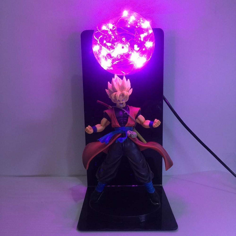 CXQ Anime Dragon Ball Sun Wukong handgefertigte kreative Tischlampe führte Schreibtischlampe Auge Lampe leuchtende Spielzeug kreative Beleuchtung, lila, europische Verordnungen