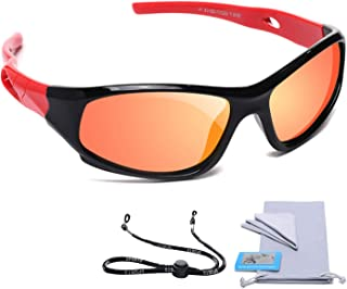 AODUOKE Sports Polarized Kids Sunglasses For Boys Girls...