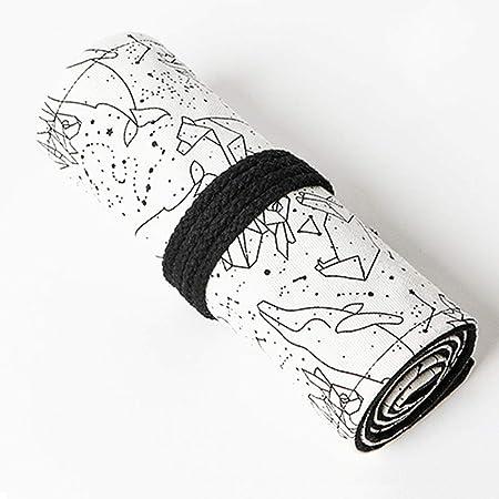 Astuccio in Tela Portamatite,BETOY Roll Up Portapenne 72 Matite Accessori Roll Tela Matita Wrap per Ufficio,Studenti Cancelleria Stoccaggio Borsa Retro Stile,Costellazione