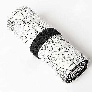 Astuccio in Tela Portamatite,BETOY Roll Up Portapenne 72 Matite Accessori Roll Tela Matita Wrap per Ufficio,Studenti Cance...