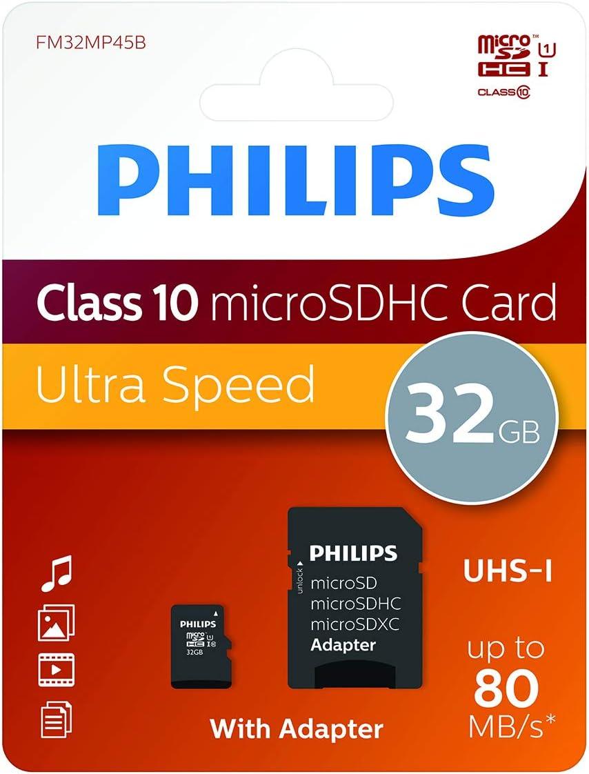 Philips Microsdhc Card 32gb Class 10 Uhs I U1 Incl Computer Zubehör