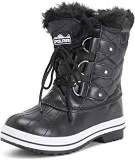 Womens Snow Boot Quilted Short Winter Snow Rain Warm Waterproof Boots