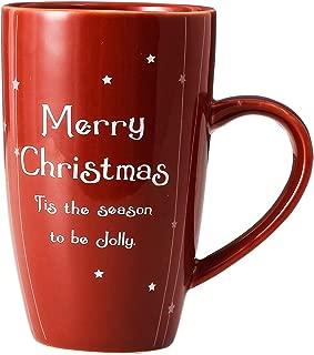 13oz Merry Christmas Mug Red with Handle for Gift Coffee Mug Ceramic Cup decor XUFENG