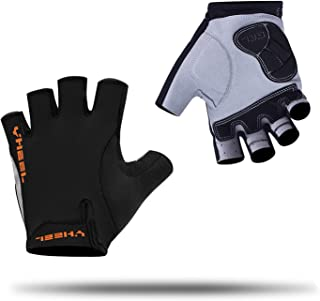 YHEEL Mountain Bike Gloves, Breathable Half Finger Cycling Gloves with Shock-Absorbing Gel Pad, Specialized Road Bicycle/Motorcycle Riding and Gym Workout Anti-Slip Sports Gloves for Men Women