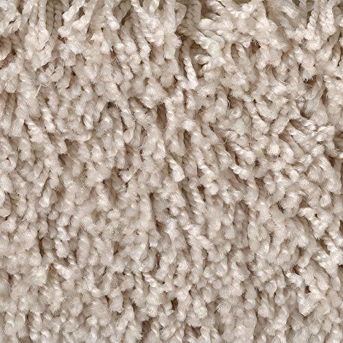 Shaggy-Teppichboden in Beige | weiche & strapazierfähige Auslegeware | zugeschnittener Bodenbelag | Teppich Langflor in der Größe 600x400 cm | gemütliche Teppichfliesen