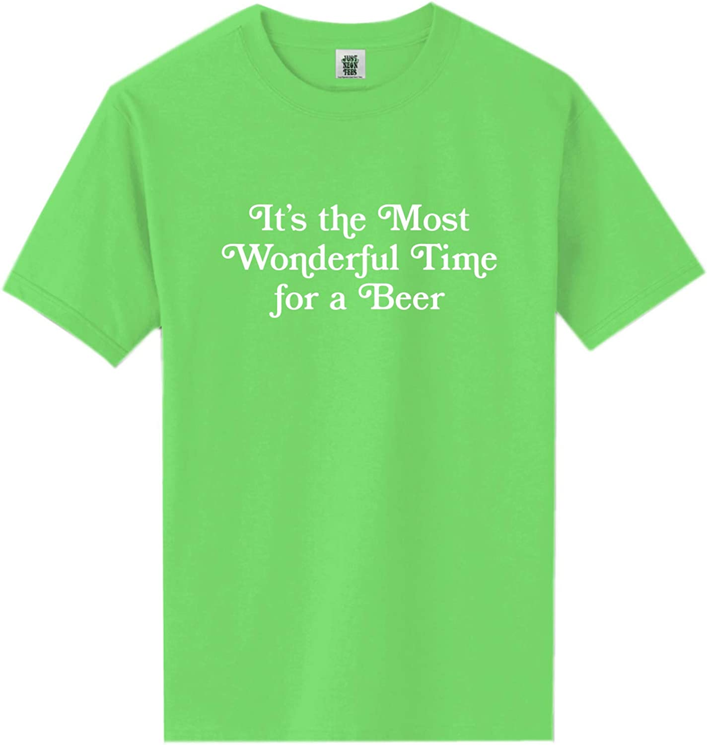 It's The Most Wonderful Time Neon Green Short Sleeve T-Shirt - XX-Large