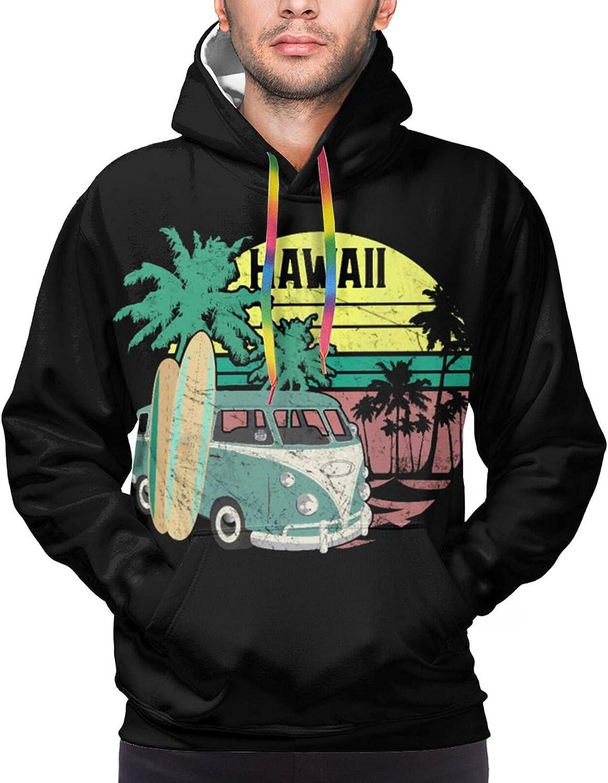 Hoodie For Men Women Unisex Retro Hawaii Hippie Palm Tree Hoodies Outdoor Sports Sweater