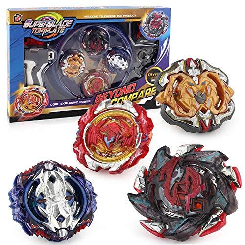 Burst Peonzas Gyro Conjuntos de Metal de Gyro Spinning Fusión con Launcher e Estadio, Regalo para Cumpleaños, Navidad Regalo, Regalo de año Nuevo para los Niños