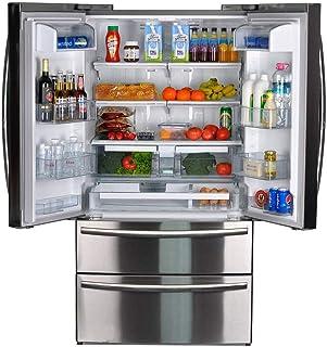 SMETA 36 Inch Counter Depth French Door Refrigerator Bottom Freezer, Fingerprint Resistant, 20.66 cu ft Capacity, Stainles...