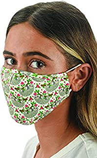 Snoozies Face Masks - 1 Cloth Face Mask - Washable Fabric Face Mask Reusable with Filter Pocket - Adjustable Ear Loops - Resealable Pouch - 4 Disposable Filters Included - Sloths