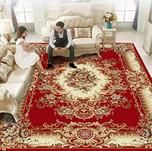Jian E Traditioneller Teppich/Matte, klassisch, orientalisch, persischer Stil, europäischer Stil, für Wohnzimmer, Schlafzimmer, Waschen, Farbe: C, Größe: 2 x 3 m