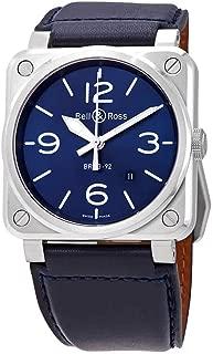 Bell & Ross Instruments Blue Steel Men's Watch BR0392-BLU-ST/SCA